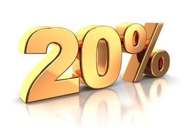 20% скидка постоянным клиентам